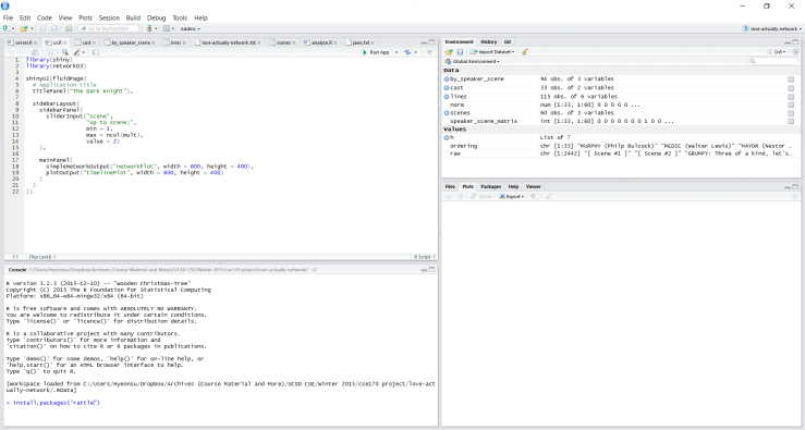 rattle package command in RStudio